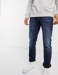 Темно-синие узкие джинсы прямого кроя Nudie Jeans Co-Синий
