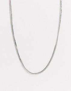 Двухъярусное ожерелье DesignB-Серебряный