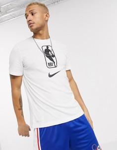 Белая футболка с логотипом Nike Basketball NBA-Белый