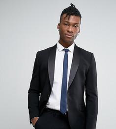 Супероблегающий пиджак под смокинг Only & Sons-Черный