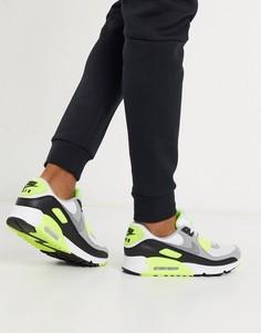 Черно-белые кроссовки Nike Air Max 90 Recraft-Белый