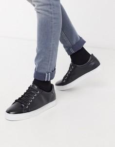 Черные кожаные кроссовки Rule London-Черный