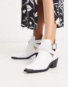 Кожаные байкерские ботинки Ted Baker-Белый