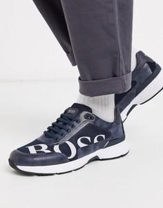 Кроссовки с логотипом BOSS Athleisure-Синий
