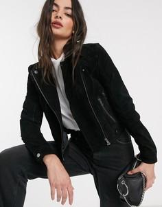 Черная замшевая куртка Vero Moda-Черный