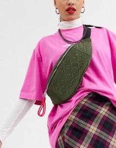 Стеганая сумка-кошелек на пояс House of Holland-Зеленый