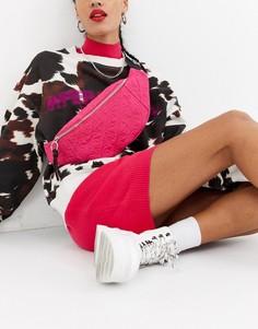 Стеганая сумка-кошелек на пояс House of Holland-Розовый