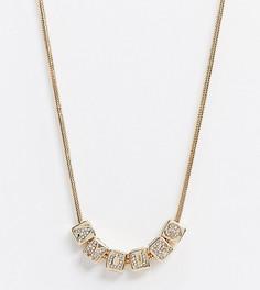 Ожерелье ASOS DESIGN Curve-Золотой