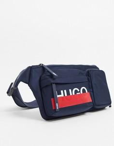 Сумка-кошелек на пояс HUGO-Темно-синий Boss