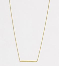 Ожерелье из позолоченного серебра с планкой Kingsley Ryan-Золотой