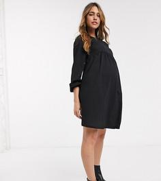 Черное свободное платье New Look Maternity-Черный