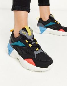 Черные комбинированные кроссовки Reebok aztrek-Черный