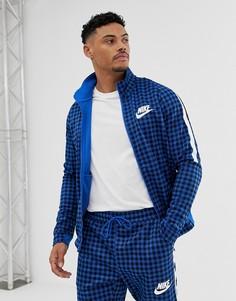 Синяя спортивная куртка в клетку Nike BQ0675-480-Синий