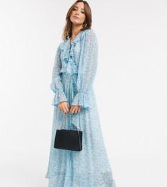 Эксклюзивное платье макси с запахом и цветочным принтом Ghost-Мульти