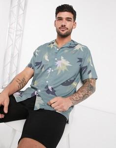 Рубашка с короткими рукавами Farah-Синий