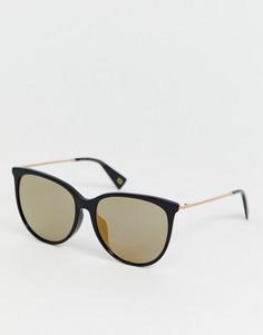 Черные солнцезащитные очки в круглой оправе с зеркальными стеклами Marc Jacobs-Черный