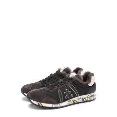 Кроссовки Premiata Комбинированные кроссовки Lucy на шнуровке с внутренней меховой отделкой Premiata