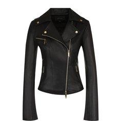 Куртки Jitrois Приталенная кожаная куртка с косой молнией Jitrois