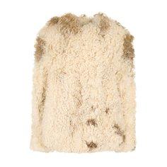 Укороченная шуба из овечьего меха Saint Laurent