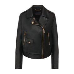Куртки Versace Кожаная куртка Versace