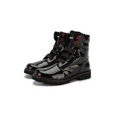 Кожаные ботинки с меховой отделкой Dolce & Gabbana