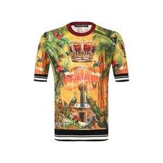 Футболки Dolce & Gabbana Шелковая футболка Dolce & Gabbana