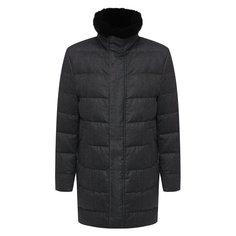 Куртки Montecore Шерстяной пуховик с меховой отделкой Montecore