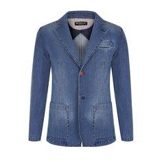 Пиджаки Kiton Однобортный джинсовый пиджак Kiton