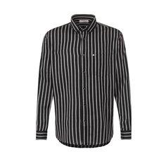 Рубашка из смеси хлопка и вискозы Saint Laurent