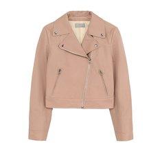 Куртки Yves Salomon Enfant Укороченная кожаная куртка с косой молнией Yves Salomon Enfant