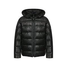 Куртки Yves Salomon Кожаный пуховик Yves Salomon