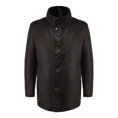 Куртки Gimo's Кожаный пуховик с меховой отделкой Gimos Gimo's