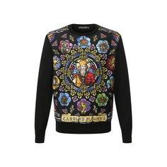 Свитшоты Dolce & Gabbana Комбинированный свитшот Dolce & Gabbana