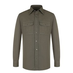 Рубашки Tom Ford Рубашка из смеси льна и хлопка Tom Ford