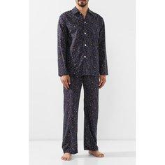 Пижамы Derek Rose Хлопковая пижама Derek Rose