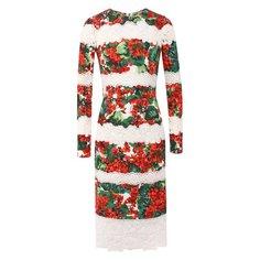 Платье из смеси хлопка и вискозы Dolce & Gabbana
