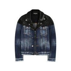 Куртки Dsquared2 Джинсовая куртка на молнии Dsquared2