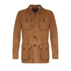 Куртки Andrea Campagna Замшевый френч с отложным воротником Andrea Campagna