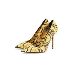 Туфли Versace Кожаные туфли Barocco Versace