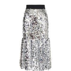 Юбки Dolce & Gabbana Юбка-миди с эластичным поясом и пайетками Dolce & Gabbana