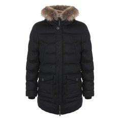 Куртки Herno Пуховик из смеси шелка и кашемира Herno