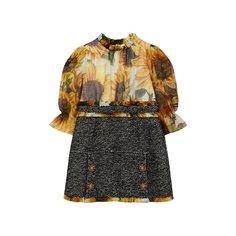 Платья Dolce & Gabbana Платье из шелка и шерсти Dolce & Gabbana