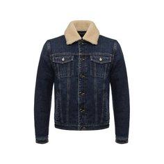 Куртки Moorer Джинсовая куртка на пуговицах с меховой отделкой воротника Moorer