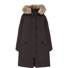 Куртки Canada Goose Пуховая парка Brittania с меховой отделкой капюшона Canada Goose