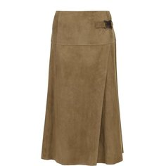 Юбки Ralph Lauren Замшевая юбка-миди с запахом Ralph Lauren