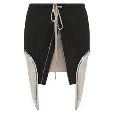 Юбки Rick Owens Хлопковая юбка Rick Owens