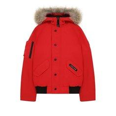Пуховики Canada Goose Пуховая куртка Rundle с меховой отделкой на капюшоне Canada Goose