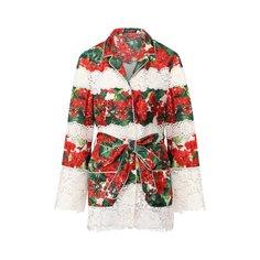 Блузы Dolce & Gabbana Блузка из смеси хлопка и шелка Dolce & Gabbana