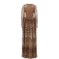 Платья Dolce & Gabbana Шелковое платье-макси с леопардовым принтом Dolce & Gabbana