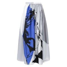 Юбки Giorgio Armani Шелковая юбка-миди с принтом Giorgio Armani